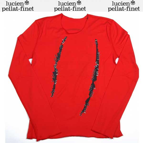 ルシアンペラフィネ lucien pellat-finet レディース Tシャツ ロンT 長袖 カットソー スカル レッド EVF1397 13A (R99800)【送料無料】【smtb-TK】