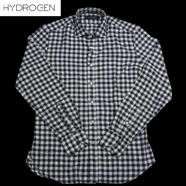 【送料無料】 ハイドロゲン(HYDROGEN) メンズ スカル カジュアル シャツ ドレス シャツ チェック 130421 MOD.FRANCE SKULL BIANCO/NERO 380 13A