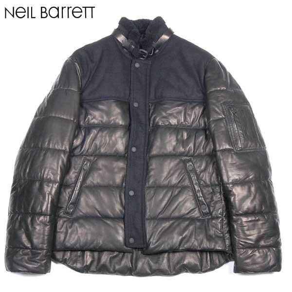 ニールバレット Neil Barrett メンズ レザーキルティング ジャケット 黒 ブラック BPE332 C7713 01 13A【送料無料】【smtb-TK】