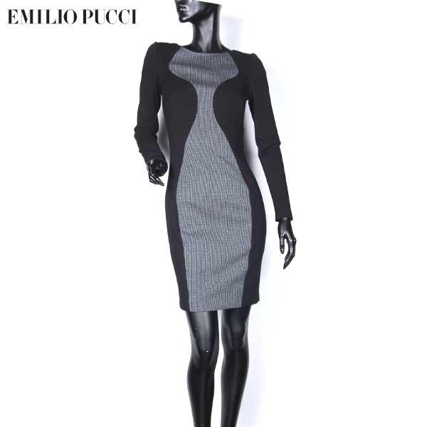 エミリオプッチ Emilio Pucci レディース ワンピース イブニングドレス ブラック/グレー 36RH84 36617 999 13A (R119400)【送料無料】【smtb-TK】