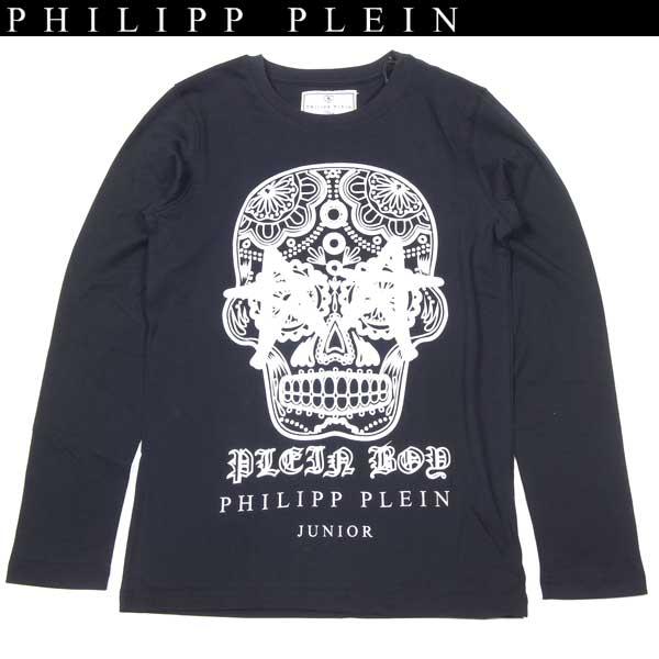 フィリッププレイン PHILIPP PLEIN レディース スカル 長袖 Tシャツ ブラック KB340014 02 13A【送料無料】【smtb-TK】