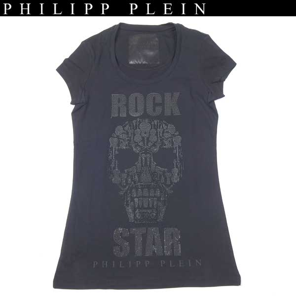 フィリッププレイン PHILIPP PLEIN レディース ラインストーン スカル 半袖 Tシャツ カットソー
