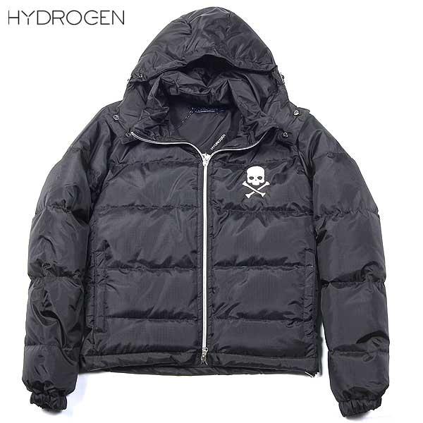ハイドロゲン HYDROGEN レディース スカル ダウン ジャケット ブラック 131602 007 13A【送料無料】【smtb-TK】