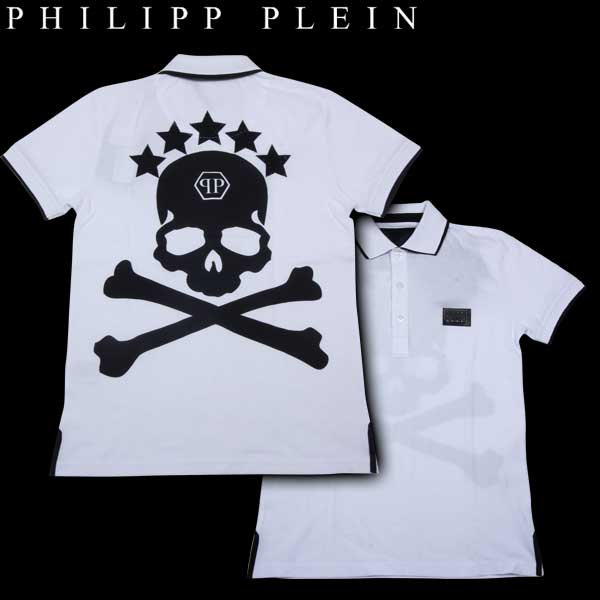 フィリッププレイン PHILIPP PLEIN メンズ ポロシャツ stars skull WM13 HM350010 01 WA13A (R53853)【送料無料】【smtb-TK】