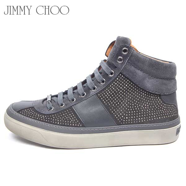 ジミーチュウ Jimmy Choo メンズ ハイカット スニーカー 靴 BELGAVI DMS GR 14S【送料無料】【smtb-TK】