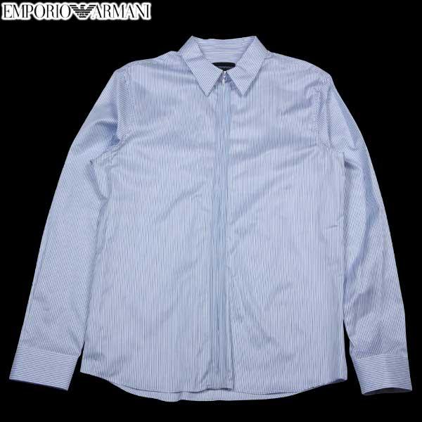 エンポリオアルマーニ EMPORIO-ARMANI メンズ ジップアップ ドレスシャツ N1CF1T N114C 019 14S (R43800) 【送料無料】【smtb-TK】
