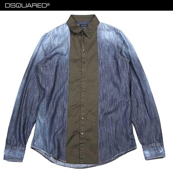 【送料無料】 ディースクエアード(DSQUARED2) メンズ ダンガリーシャツ デニムシャツ S74DL0570 S30114 470 【smtb-TK】 14S