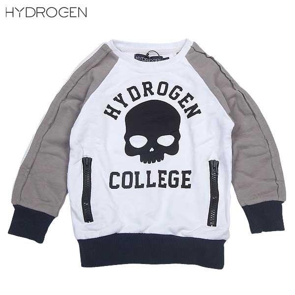 【送料無料】 ハイドロゲン(HYDROGEN) キッズ スカル トレーナー 146002 001 BIANCO 14S