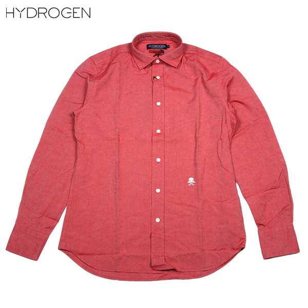 ハイドロゲン HYDROGEN メンズ スカル 長袖カジュアルシャツ 140508 002 ROSSO DB14S【送料無料】【smtb-TK】