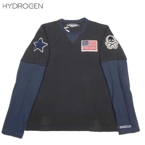 ハイドロゲン HYDROGEN メンズ BRONZAJI スカル ロング Tシャツ 長袖 148004 007 NERO 14S