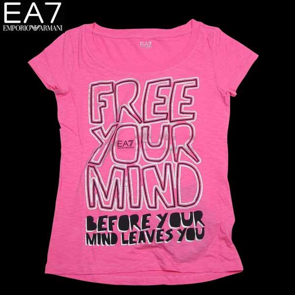 エンポリオアルマーニ EMPORIO-ARMANI レディース トップス 半袖 Tシャツ EA7ロゴ入りカットソー 色違い(白・グレー)あり ピンク 283628 4P207 03070 14S (R10900)