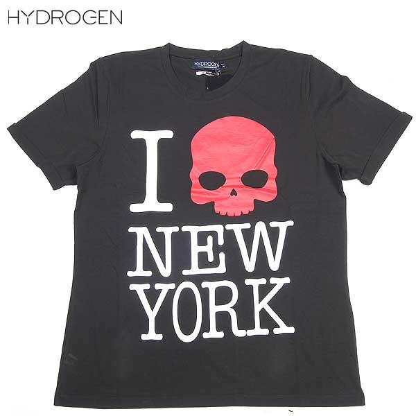 ハイドロゲン(HYDROGEN) メンズ スカル クルーネック 半袖 Tシャツ 140107 007 14S