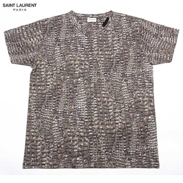 【送料無料】 サンローランパリ(SAINT LAURENT PARIS) メンズ スネークプリント クルーネック 半袖 Tシャツ 345257 Y2ES1 14S