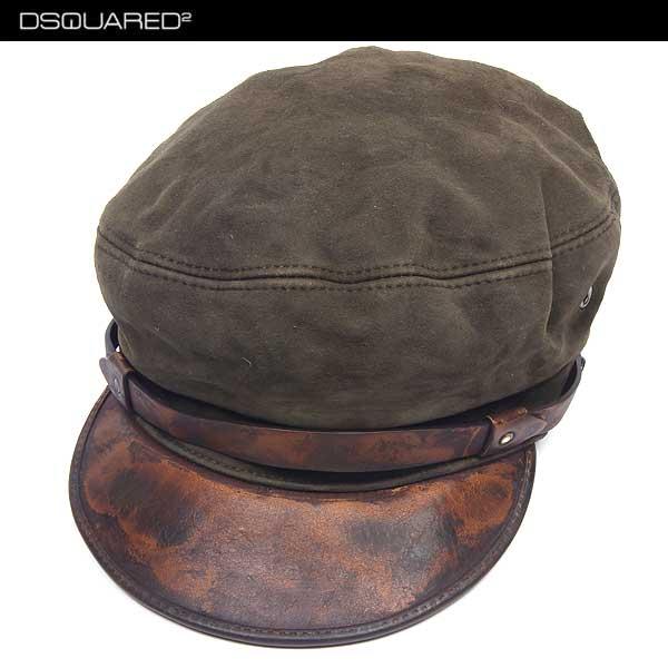 【送料無料】 ディースクエアード(DSQUARED2) ユニセックス ユニセックス レザーキャスケット キャップ 帽子 S14 HA1003 V102 8066 14S