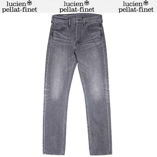 【送料無料】 ルシアンペラフィネ(lucien pellat-finet) メンズ スカル ジーンズ デニムパンツ DE 73H GREY 14S