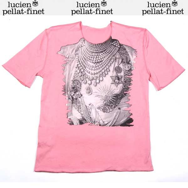 ルシアンペラフィネ lucien pellat-finet レディース ジュエリープリント 半袖 Tシャツ EVF 1582 FIGURINE/NECKLACE PRINT 14S【送料無料】【smtb-TK】