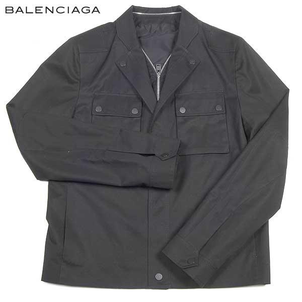 バレンシアガ BALENCIAGA メンズ コットン ジャケット ブルゾン 343901 TIB14 1000 14S【送料無料】【smtb-TK】