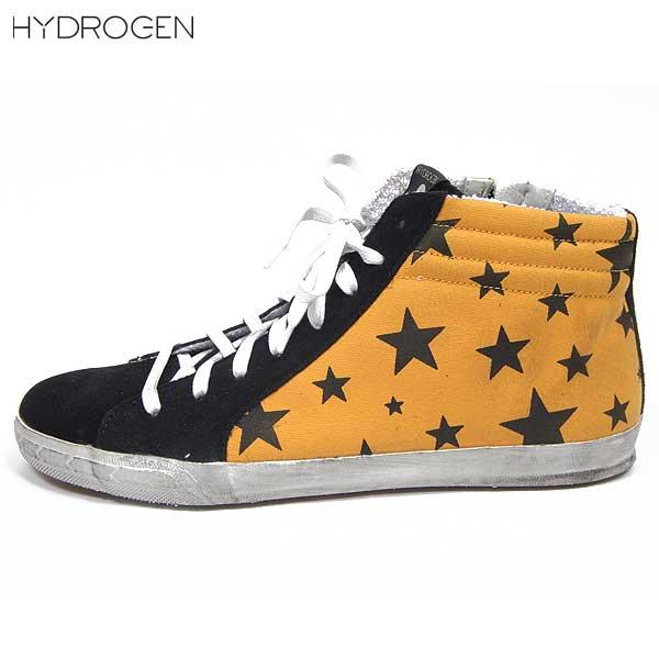 ハイドロゲン HYDROGEN メンズ スター ハイカット スニーカー 靴 148300 418 14S【送料無料】【smtb-TK】