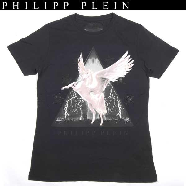 フィリッププレイン PHILIPP PLEIN メンズ ラインストーン クルーネック 半袖 Tシャツ HM341042 02 WA14S【送料無料】【smtb-TK】