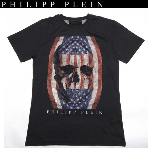 フィリッププレイン PHILIPP PLEIN メンズ ラインストーン スカル 半袖 Tシャツ HM341790 02 14S【送料無料】【smtb-TK】