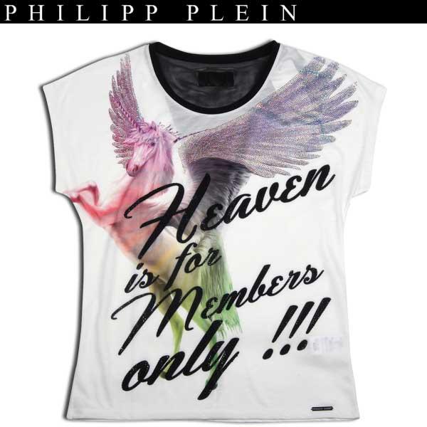 フィリッププレイン PHILIPP PLEIN レディース スワロフスキー 半袖 カットソー Tシャツ