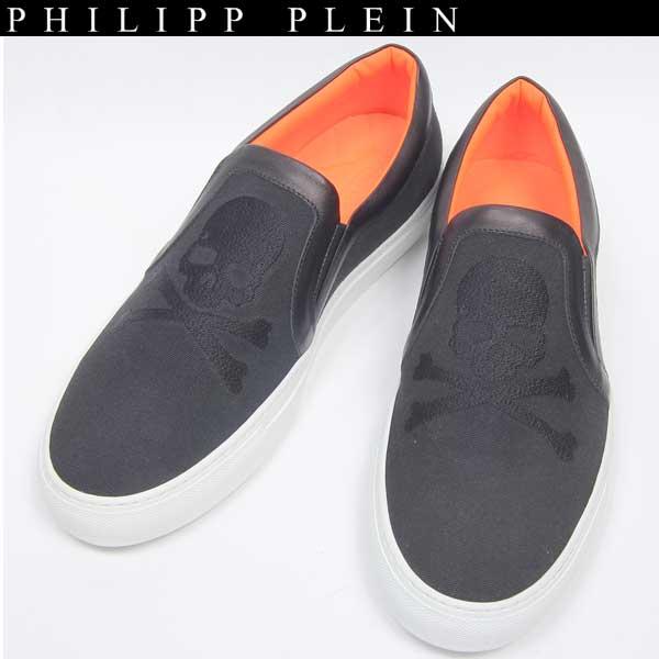 フィリッププレイン PHILIPP PLEIN メンズ スカル スニーカー スリッポン デッキシューズ 靴 151002 02 14S【送料無料】【smtb-TK】