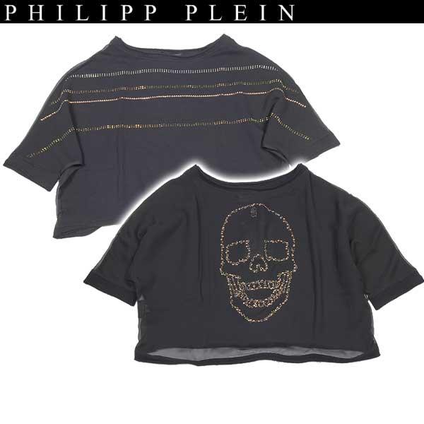 フィリッププレイン PHILIPP PLEIN レディース ラインストーン スカル カットソー SS14 CW660060 02 14S【送料無料】【smtb-TK】