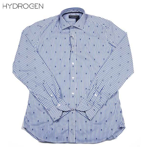 ハイドロゲン HYDROGEN メンズ スカル ストライプ ストレッチ ドレスシャツ ワイシャツ 140400 791 14S【送料無料】【smtb-TK】