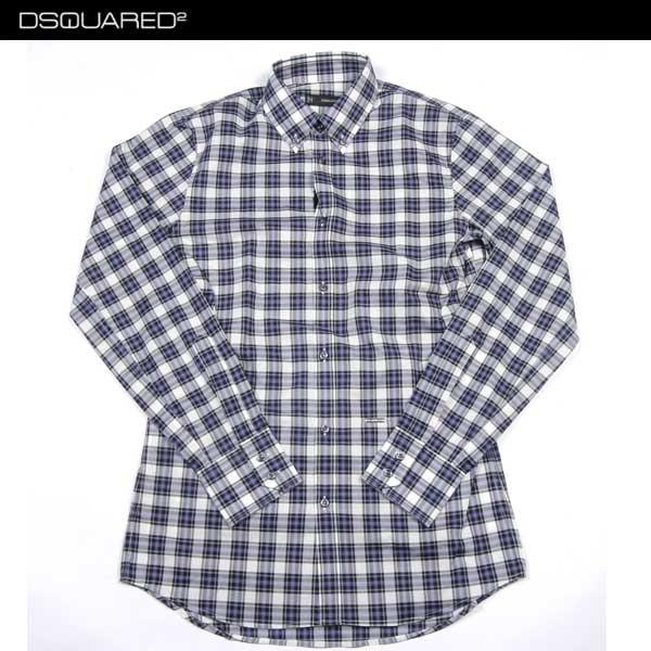 【送料無料】 ハイドロゲン(HYDROGEN) メンズ チェック コットン ドレスシャツ ワイシャツ S74DL0591 S42419 001F 【smtb-tk】 14S