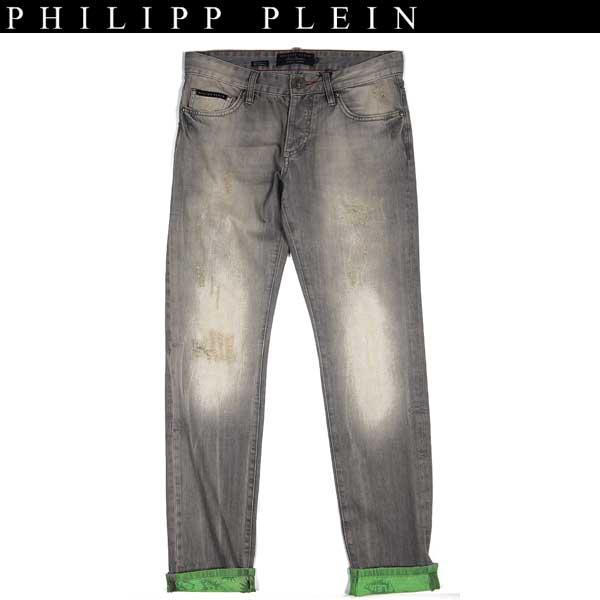 【送料無料】 フィリッププレイン(PHILIPP PLEIN) メンズ クラッシュ デニム ジーンズ