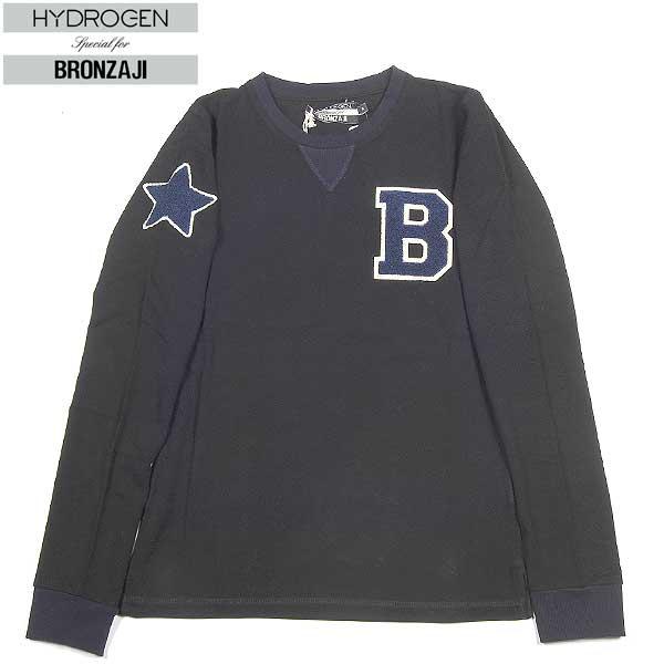 ハイドロゲン HYDROGEN レディース BRONZAJI LADIES ロング Tシャツ 159008 007 BLACK 14A【送料無料】【smtb-TK】