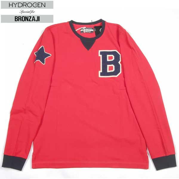 【送料無料】 ハイドロゲン(HYDROGEN) メンズ BRONZAJI MEN'S ロング Tシャツ 長袖 158008 002 RED 【smtb-tk】 14A