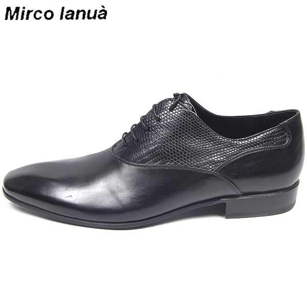 【送料無料】 MIRCO IANUA(ミルコ イアヌア) メンズ 子牛革 プレーントウ シューズ 靴 02287 Mcshoes Nero  【楽ギフ_包装】【smtb-TK】