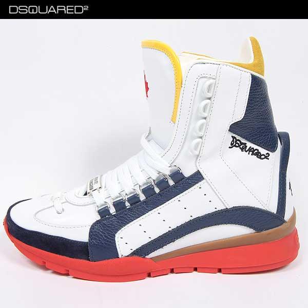 ディースクエアード DSQUARED2 メンズ レザー ハイカット スニーカー 靴 SN403 V065 3085 14S【送料無料】【smtb-TK】