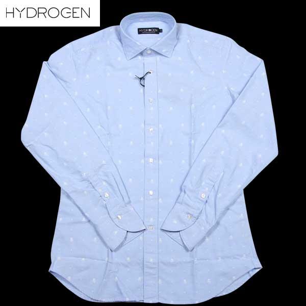 ハイドロゲン HYDROGEN メンズ スカル コットン オックスフォードシャツ ワイシャツ 150422 791 14A【送料無料】【smtb-TK】
