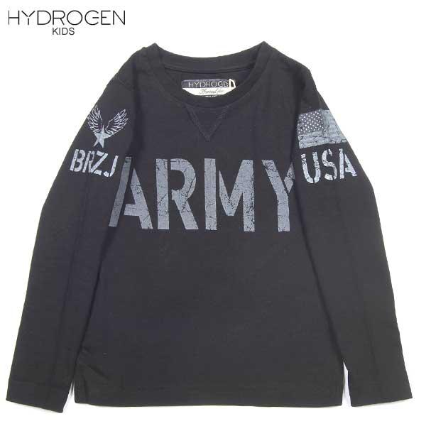 ハイドロゲン HYDROGEN キッズ BRONZAJI ARMY ロング Tシャツ 長袖 15B026 007 DB14A【送料無料】【smtb-TK】