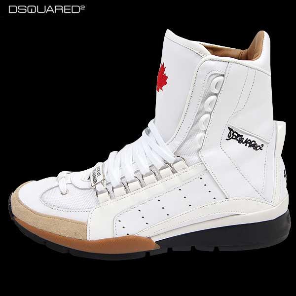 ディースクエアード DSQUARED2 メンズ レザー ハイカット スニーカー 靴 SN405 V1065 1062 14A【送料無料】【smtb-TK】