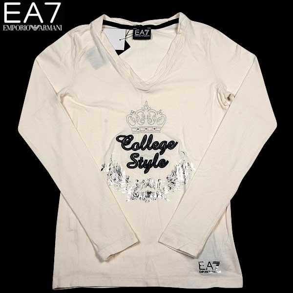 エンポリオアルマーニ EMPORIO-ARMANI レディース EA7 長袖 カットソー ロング Tシャツ 283701 4A229 05110 14A (R14800) 【送料無料】【smtb-TK】