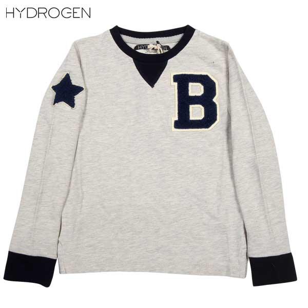 ハイドロゲン HYDROGEN キッズ BONZAJI ロング Tシャツ 15B010 015 14A (R11230)【送料無料】【smtb-TK】