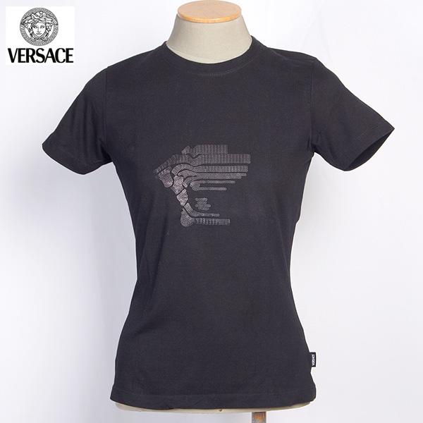 【サイズS】 ヴェルサーチスポーツ VERSACE SPORT レディース メデューサ半袖 Tシャツ カットソー ブラック 30875 111934 002 【送料無料】【smtb-TK】