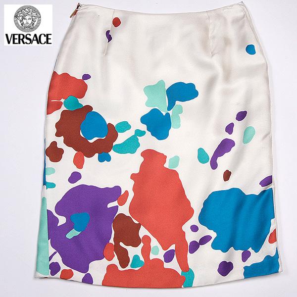 【サイズ40】 ヴェルサーチ Versace レディース ショート丈 スカート スーツ ホワイト 18125 104354 703 (R69800)【送料無料】【smtb-TK】