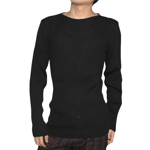 大特価!! ヴェルサーチ (R53800) Versace メンズ カットソー スリムシャツ カットソー スリムシャツ リブ編 ブラック 黒 VZKB0L-5M331 (R53800)【送料無料】【smtb-TK】, 大利根町:9b8f299a --- beautyflurry.com