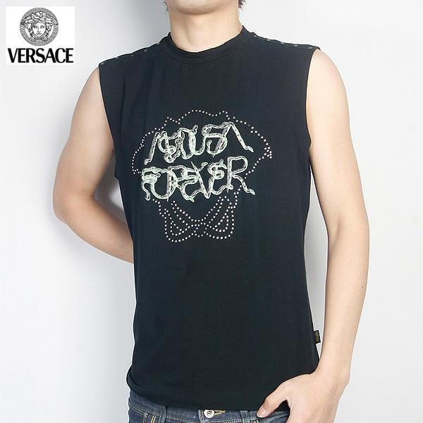 ヴェルサーチ Versace ノースリーブTシャツ JV3710-30792-BK ブラック (R29800)【送料無料】【smtb-TK】