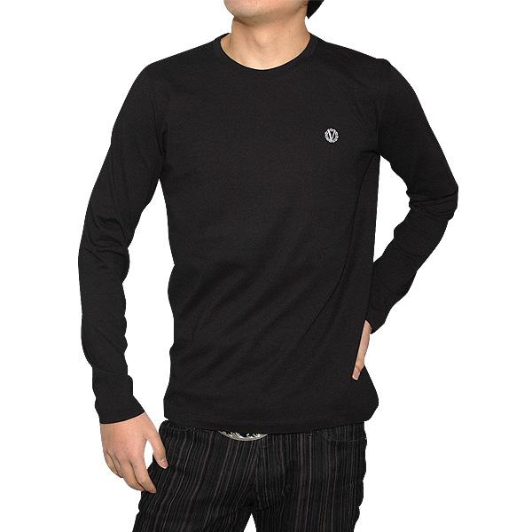 ヴェルサーチ Versace メンズ ロング Tシャツ ブラック VZJG0L-4H304-2 【送料無料】【smtb-TK】