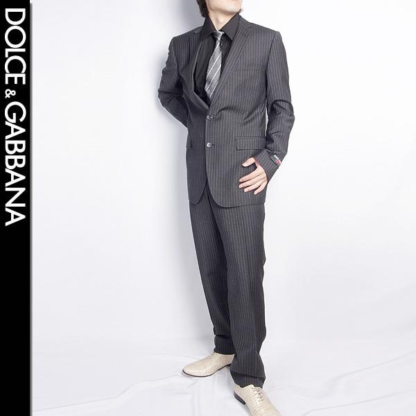 ドルチェ&ガッバーナ DOLCE&GABBANA メンズ スーツ セットアップ OS G1X2MT FR2NT S8051 ブラック ストライプ 【送料無料】【smtb-TK】
