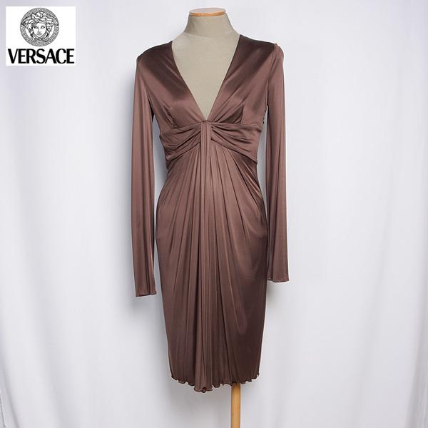 ヴェルサーチ Versace レディース ドレス ワンピース 0946451 150 VER ブラウン (R243724)【送料無料】【smtb-TK】