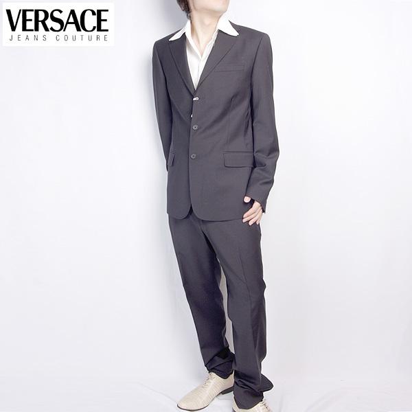 ヴェルサーチ ジーンズクチュール Versace メンズ スーツ セットアップ 28WSVA 722W29C ブラック 黒 【送料無料】【smtb-TK】