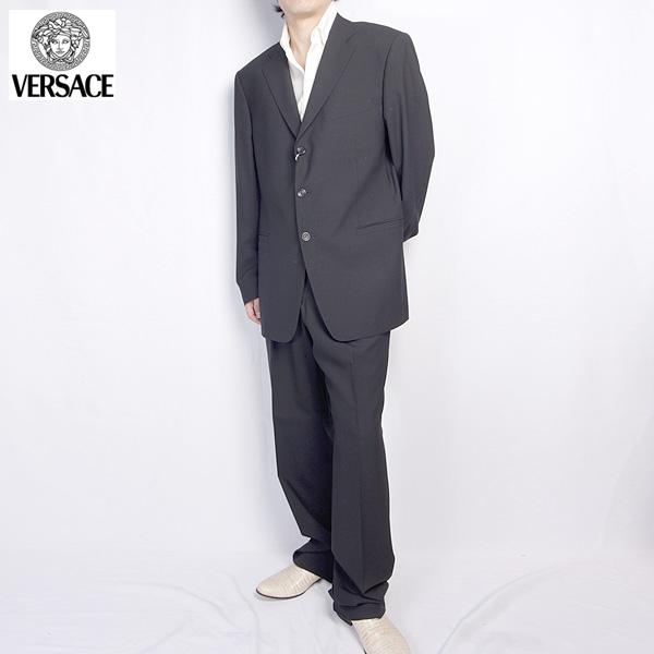 ヴェルサーチ Versace メンズ スーツ セットアップ 28F5XQ 6R210 000 ブラック 黒 【送料無料】【smtb-TK】