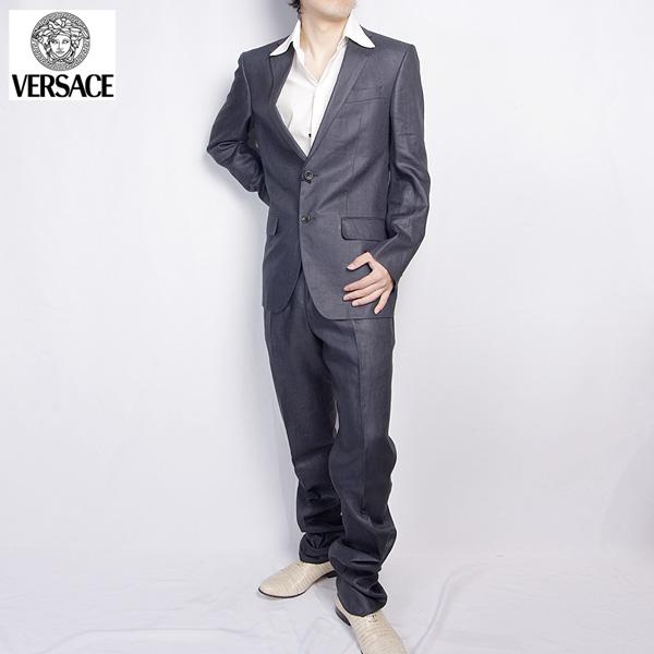 ヴェルサーチ Versace メンズ スーツ セットアップ 1114729 200VER グレー【送料無料】【smtb-TK】