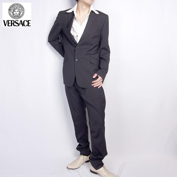 ヴェルサーチ ジーンズクチュール Versace スーツ セットアップ 1329644 160 VEJ ブラック 黒 【送料無料】【smtb-TK】